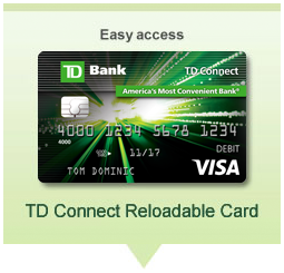 Easy Access. TD Connect Reloadable Card
